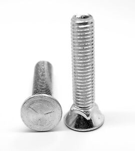 1 2 13 X 2 1 2 Coarse Thread Grade 5 Plow Bolt 3 Flat Hd Zinc Plated Pk 25