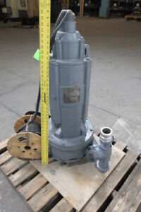 Rebuilt 20 Hp 230 46 V 3ph Electric Waste Water Pump Piped 2 1 2 Discharge