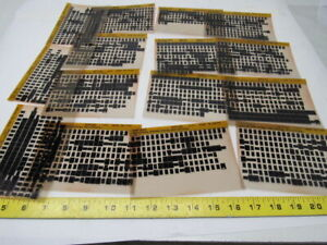 Cat Caterpillar 639d Tractor Vintage Microfiche Parts Catalog 15 Cards Rare Set