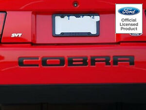2003 2004 Mustang Cobra Letters Rear Bumper Inserts Vinyl Decals Ford Licensed