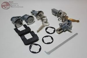 67 68 Mustang Ford Ignition Door Trunk Glovebox Lock Cylinders Keys New
