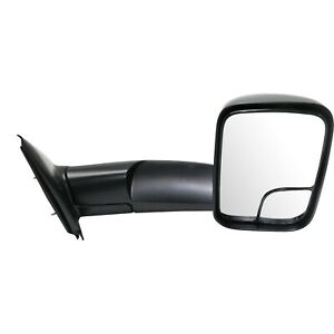 Tow Mirror For 2002 2009 Dodge Ram 1500 Passenger Side Manual Fold Blind Spot