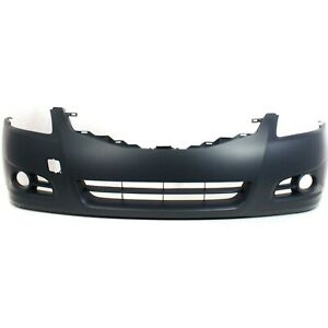 Front Bumper Cover For 2010 2012 Nissan Altima Sedan W Fog Lamp Holes Primed