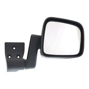 Mirror For 2003 2006 Jeep Wrangler Tj Left Textured Black Manual Folding