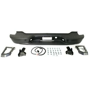 Step Bumper For 2000 2006 Chevrolet Tahoe suburban 2500 Powdercoated Black Rear