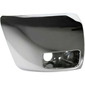Chrome Front Bumper End Cap For 2007 2013 Chevrolet Silverado 1500 With Fog Lamp