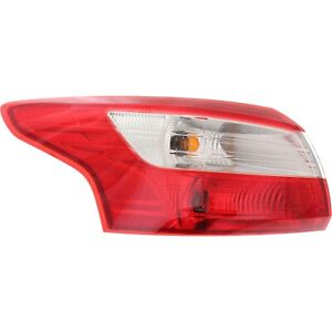 Tail Light For 2012 2014 Ford Focus S Sedan Lh Outer W Bulb S