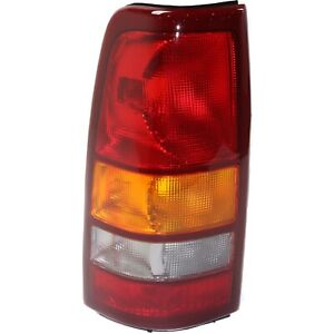 Tail Light For 99 02 Chevrolet Silverado 1500 01 02 2500 Hd Lh Fleetside Assy