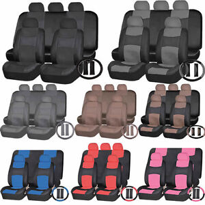 Pu Synthetic Leather Front Truck Seats Back Bench Covers Steering Combo
