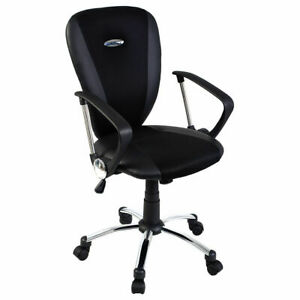 Goplus Modern Ergonomic Computer Task Executive Mid back Desk Office Chair Black