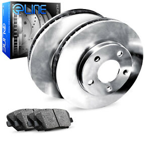 2012 2016 Ford Focus Rear Eline Plain Brake Disc Rotors Ceramic Brake Pads