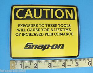 Genuine Official Snap On Tools Logo Decal Caution Exposure To These Tools New