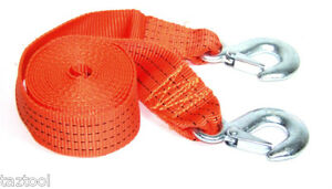 2 New Tow Strap Rope Towing Truck Pull Pulling Straps 16 Ft Heavy Duty Tow Truck