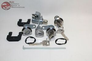 1969 Mustang Ford Ignition Door Trunk Glovebox Lock Cylinders W Keys New
