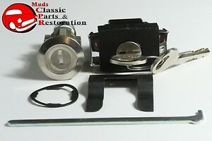 79 86 Ford Mustang Glove Box Button Latch Trunk Lock Cylinder Kit Set W Keys New