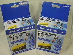 2 Pack Lot Automatic 12v Battery Float Charger Maintainer Polaris Atv Snowmobile
