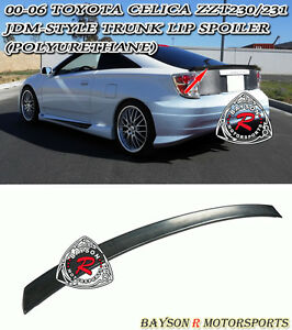 Bb Style Trunk Lip Spoiler Wing Urethane Fits 00 06 Toyota Celica