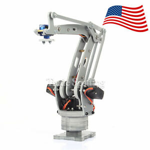 Usa Stock Assembled 4 Axis Palletizing Robot Arm Model For Arduino Uno Mega2560