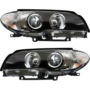 Headlight Set For 2003 2004 2005 2006 Bmw 325ci Left And Right 2pc