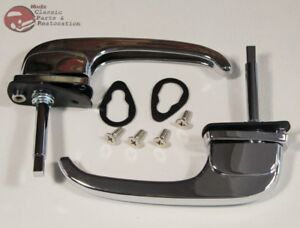 47 51 Chevy Gmc Truck Outer Outside Exterior Pull Down Door Handles Set Pair New