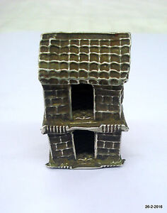 Vintage Antique Collectible Old Silver Hut Model Gift Item Handmade