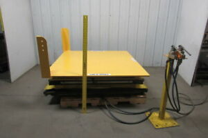 Knight 4000 Lb 2 Ton Air Pneumatic Lift Tilt Table 57x52 Top 35 Deg Tilt