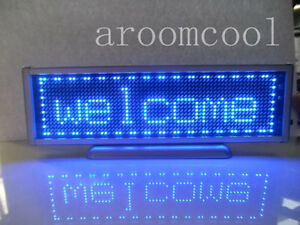 16x64 Display Programmable Message Moving Scrolling Led Name Badge Tag Blue