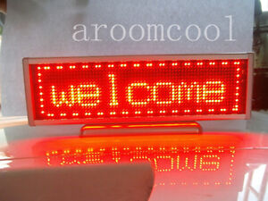 16x64 Display Programmable Message Moving Scrolling Led Name Badge Tag Red