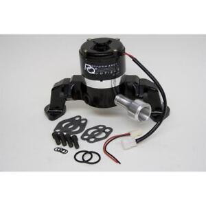 Prw Water Pump 4445407 35 Gpm Black Powdercoat Aluminum Electric For Chevy Bbc