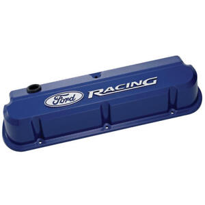 Proform Valve Cover Set 302 136 Ford Racing Blue Aluminum For Ford 302 351w Sbf