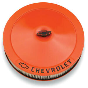 Proform Air Cleaner Assembly 141 785 Gm Performance Chevy Orange Steel 14 X 3