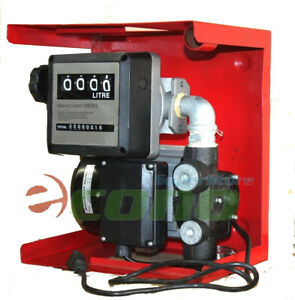 16gph 110v Electric Oil Fuel Diesel Gas Transfer Pump W Mechanical Meter Gallon