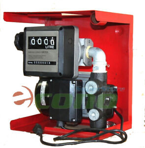 16gpm 110v Electric Oil Fuel Diesel Gas Transfer Pump W Mechanical Meter Gallon