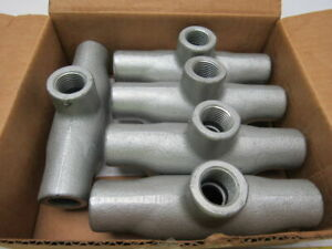 Crouse hinds Tb17 1 2 Conduit Body Outlet Box Of 5