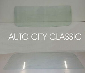 60 61 62 63 Chevy Gmc Pickup Truck Glass Windshield Green And Rear Clear Set