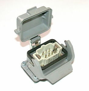 Up To 4 Harting 6 pin Male Connector And Base Model Han6e m