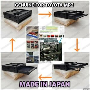 Brand New Jdm Genuine 90 99 Toyota Sw20 Mr2 1 din Cup Holder Console Tray rare