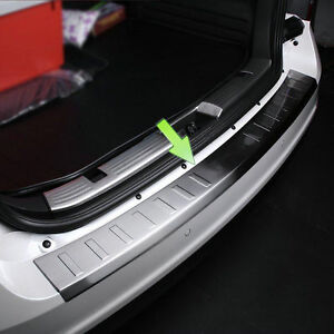 1 Stainless Steel Rear Bumper Protector Sill Plate Cover For Ford Edge 2007 2014