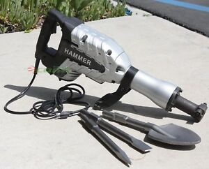 2200 Watt Demolition Breaker Jack Hammer Concrete Cement Spade Scoope Shovel