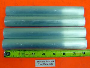 4 Pieces 1 1 2 Aluminum 6061 Round Rod 8 Long Solid Bar Stock New Usa 1 50