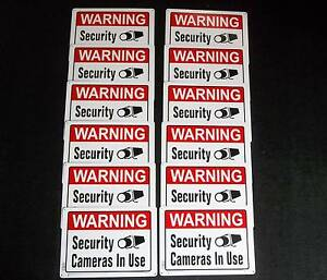 12 Metal Home Store Security Surveillance Video Camera Warning Signs