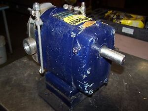 Waukesha 1 Id Stainless Steel Positive Displacment Pump Size 15 6328ss