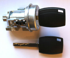 New Ford Fiesta Ignition Switch Lock Cylinder With 2 Transponder Chipped Keys