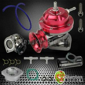 Black 2 5 Flange Bov Pipe Billet Aluminum Type rs Turbo Blow Off Valve Red