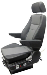 Leather Truck Seat With Adjustable Headrest Prime Seating 400lh Seat