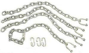 1 4 Tow Bar Safety Chain Kit For Towing Heavy Duty