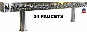 Stainless Steel Draft Beer Tower Made In Usa 24 Faucets Glycol Ready Ptb 24ssg