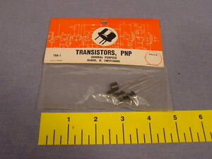 4 Rare Packaged Vintage Pnp General Purpose Black Transistors Unopened
