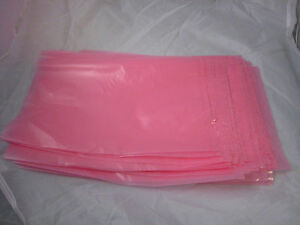 New Lot 100 12 X 15 Inch Anti static Electronics Bags Large 2 Mil Pink Computer