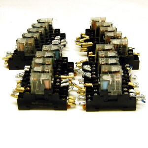 lot Of 20 Omron G2r 2 snd Relay Switches 24vdc Coil Dpdt W P2rf 08 Bases